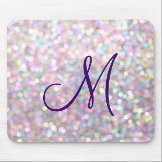 Sparkly Monogram Mouse Pad