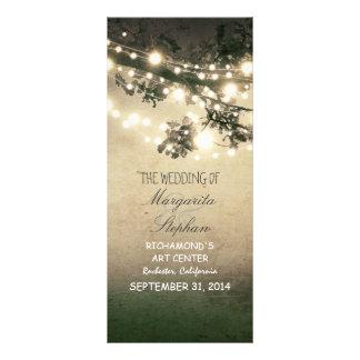 sparkly night lights romantic wedding programs
