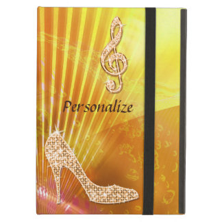Sparkly Orange Music Note & Stiletto Heel iPad Air Cover
