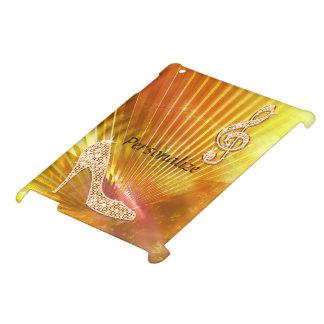 Sparkly Orange Music Note & Stiletto Heel iPad Cases