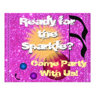 Sparkly Party Invites Invitations Announcements Flyer