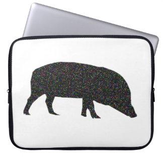 Sparkly Pig Laptop Bag