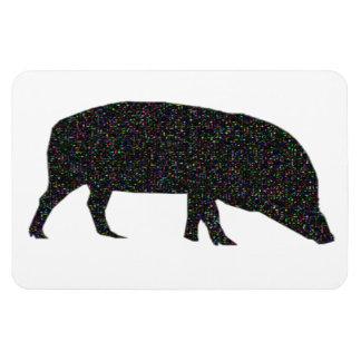 Sparkly Pig Premium Magnet