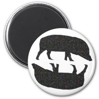 Sparkly Pigs Magnet