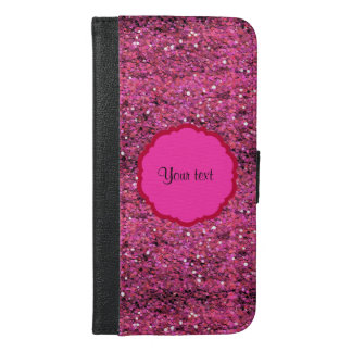 Sparkly Pink Glitter iPhone 6/6s Plus Wallet Case