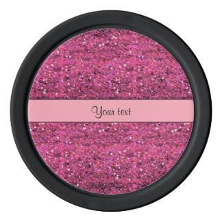 Sparkly Pink Glitter Poker Chips Set
