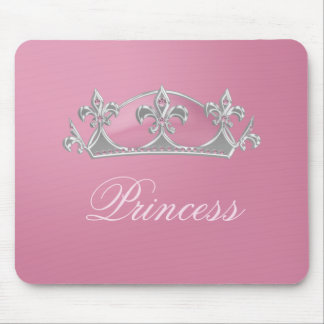 Sparkly Pink with Diamonds Princess Crown Mousepad