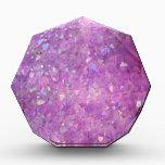 "Sparkly Pinky Purple Aura Crystals Acrylic Award<br><div class=""desc"">Sparkly Pinky Purple Aura Crystals</div>"