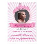 Sparkly Princess Crown - Birthday Invitations