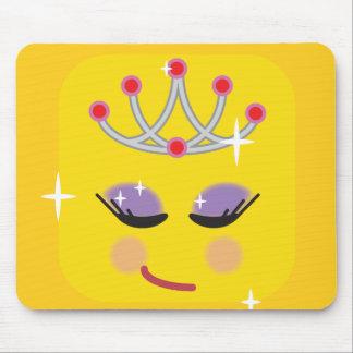 Sparkly Princess Emoji Mouse Pad