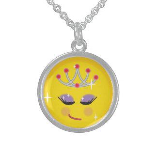 Sparkly Princess Emoticon Sterling Silver Necklace