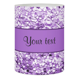 Sparkly Purple Glitter Flameless Candle