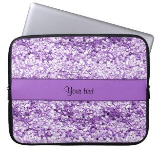 Sparkly Purple Glitter Laptop Sleeve