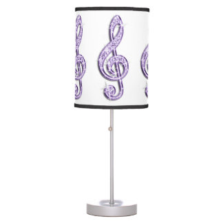 Sparkly Purple/ Lilac Music Note Desk Lamp