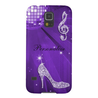 Sparkly Purple/ Lilac Music Note & Stiletto Heel Galaxy S5 Case