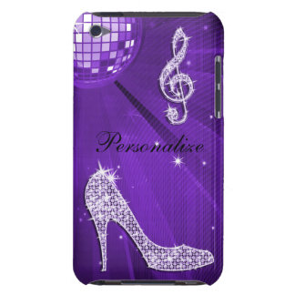 Sparkly Purple/ Lilac Music Note & Stiletto Heel iPod Case-Mate Case