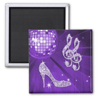 Sparkly Purple/ Lilac Music Note & Stiletto Heel Magnet