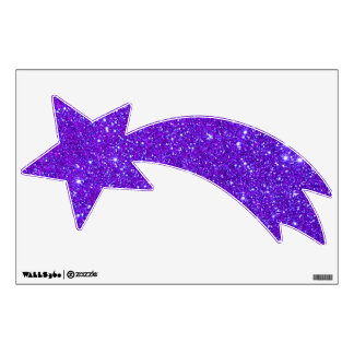 Sparkly Purple Violet Shooting Stars Universe Wall Sticker
