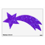Sparkly Purple Violet Shooting Stars Universe Room Graphic