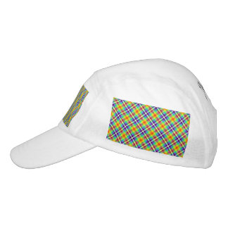 Sparkly Rainbow Gingham Plaid Hat