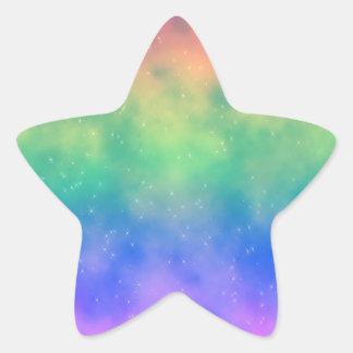 Sparkly Rainbow Sky Sticker