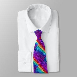 Sparkly Rainbow Tie