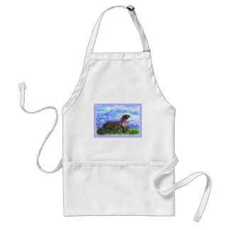Sparkly River Otter Adult Apron