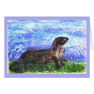 Sparkly River Otter Art Card