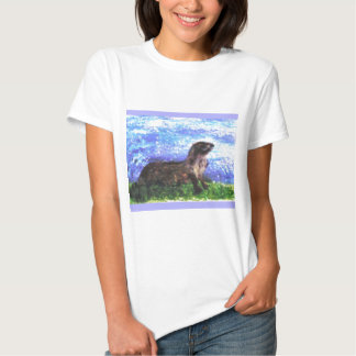 Sparkly River Otter Art Tshirts