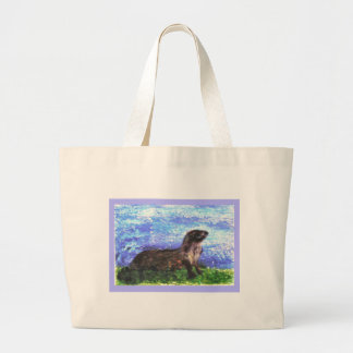 Sparkly River Otter Canvas Bag