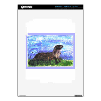 Sparkly River Otter Decal For iPad 3