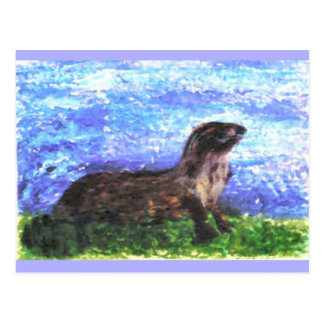 Sparkly River Otter Postcards