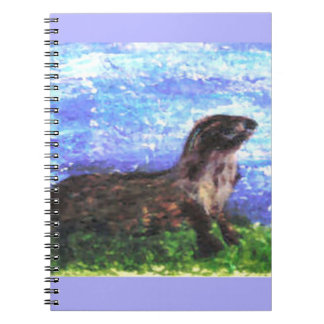 Sparkly River Otter Spiral Notebook