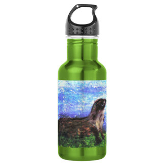 Sparkly River Otter Stainless Steel Water Bottle