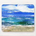 Sparkly Sea Ocean Beach Surf Gifts Sea Waves 2 Mouse Pad