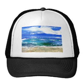 Sparkly Sea Ocean Beach Surf Gifts Sea Waves Trucker Hat