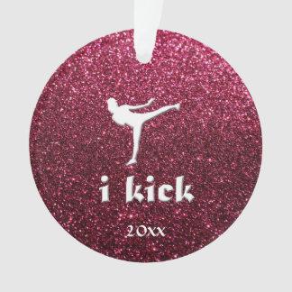 Sparkly Shimmering fuchsia  'i kick' custom