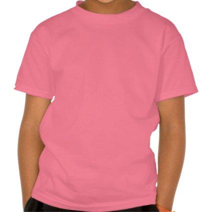 Sparkly Shimmering fuchsia 'i kick' custom Tee Shirt