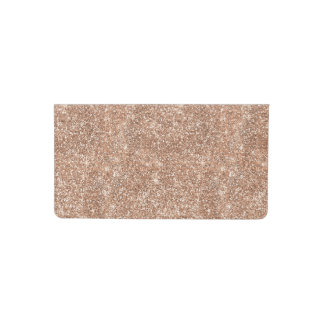 Sparkly Shiny Glitter Rose Gold Checkbook Cover