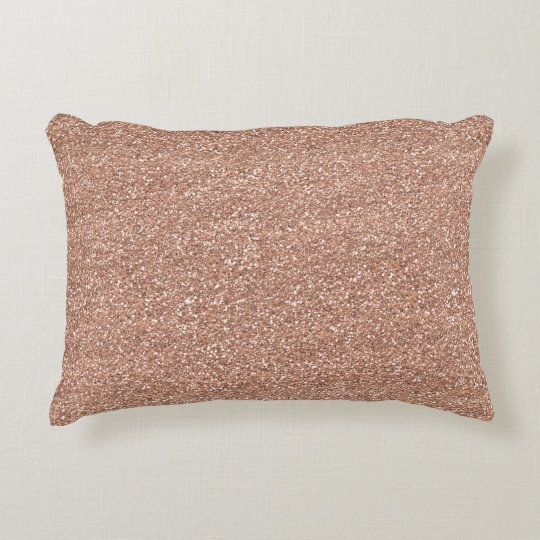 Sparkly Shiny Glitter Rose Gold Decorative Pillow Zazzle Extraordinary Rose Gold Decorative Pillows