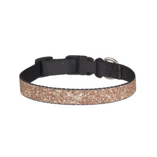 Sparkly Shiny Glitter Rose Gold Pet Collar