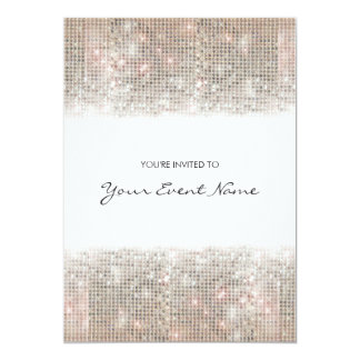 Sparkly Silver Faux Sequins Festive Party Card