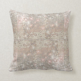 Sparkly Silver Sequins Throw Pillow