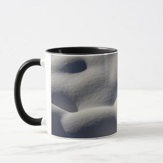 Sparkly Snow Mounds Abstract Nature Photography Mug