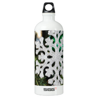 Sparkly snowflake ornament on Christmas tree SIGG Traveler 1.0L Water Bottle