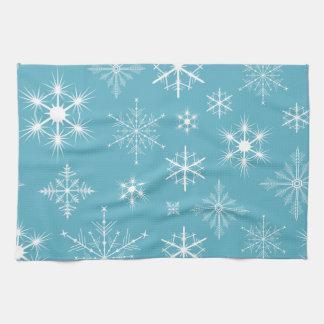 Sparkly Snowflakes Kitchen Towel