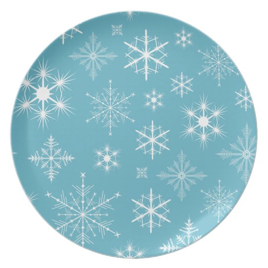 Sparkly Snowflakes Plate