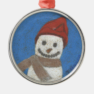 Sparkly Snowman Ornament by Julia Hanna