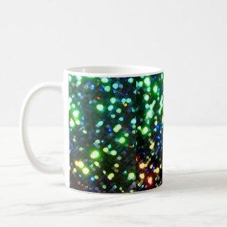 Sparkly Sparkling Christmas Holiday Lights Coffee Mug