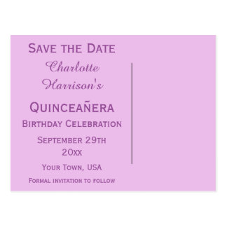 Sparkly Stiletto Heel 15th Birthday Save The Date Postcard